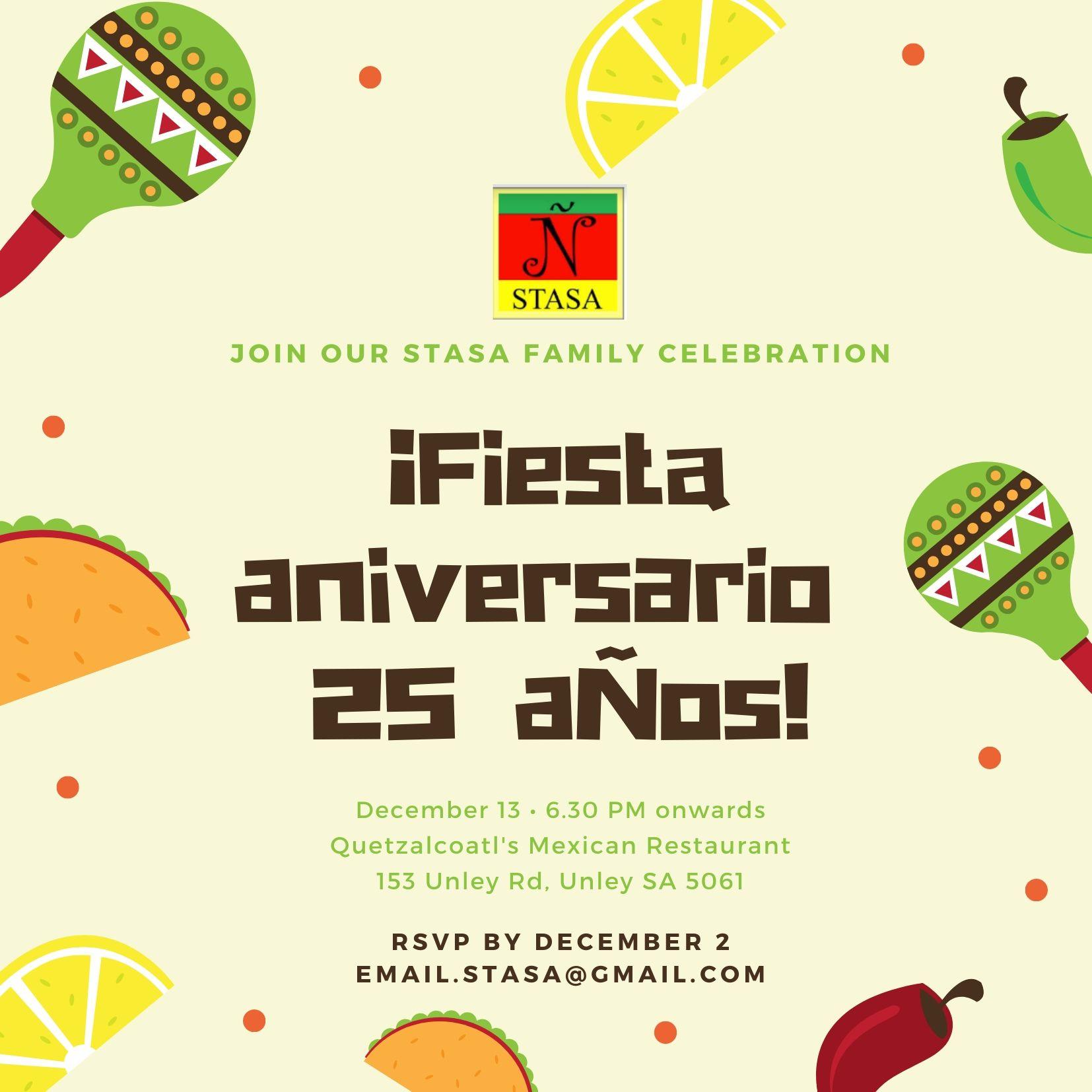 13 Dec: 25th Anniversary Dinner