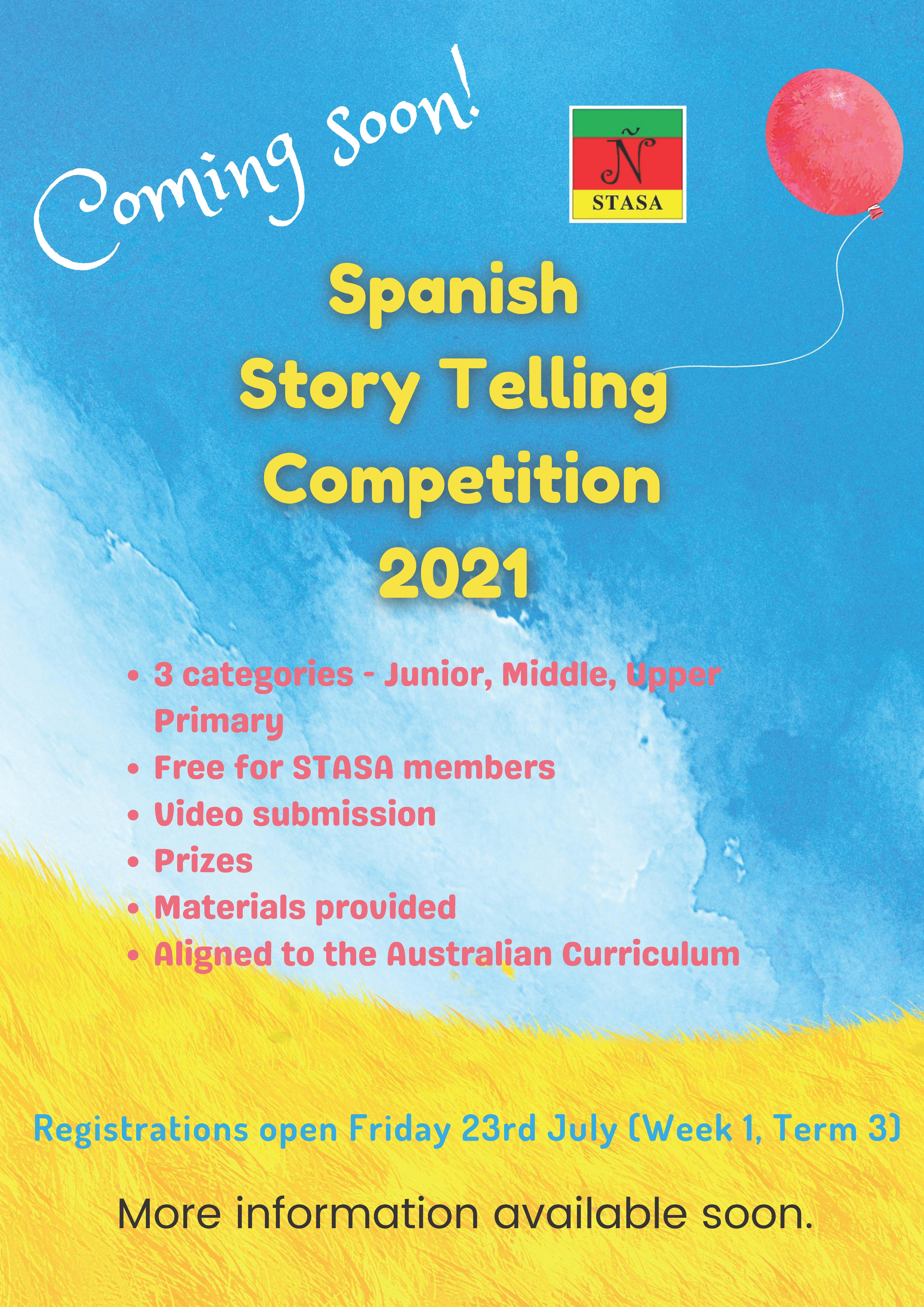 17 September: Junior Story Telling Competition